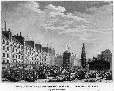 14 de setembre de 1791, Proclamació de la Constitució