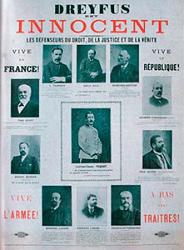 Intel.lectuals de l'època defensen Dreyfus