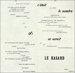 'Un Coup de des jamais n'abolira le hasard' (1897), Sthèphane Mallarmé