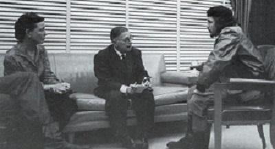 Jean Paul Sartre i Simone de Beauvior, amb el Che a La Habana dels 60